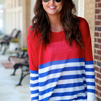 Nautical Lightweight Knit