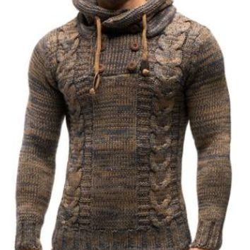 Viking Thick Hedging Sweater in Coffee