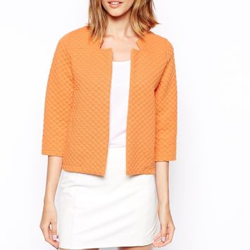 ASOS Quilted Edge to Edge Jacket - Washed melon