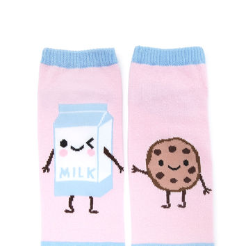 Milk and Cookie Ankle Socks