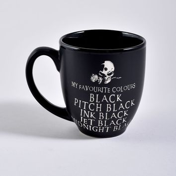 Black Ceramic Favorite Colors Mug