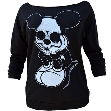 Sad Mouse Womens Oversized Sweatshirt By Josh Stebbins