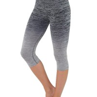 Evera Womens Ombre Yoga Athletic Workout Exercise Capris Leggings