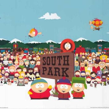South Park Cartoon Cast Poster 24x36