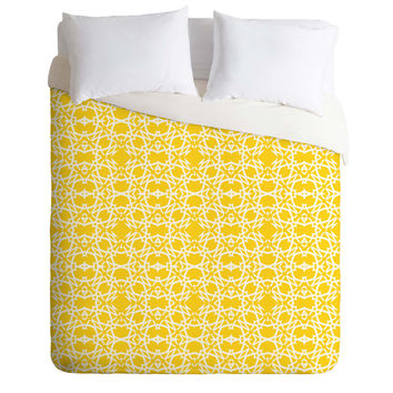 Lisa Argyropoulos Electric In Zest Duvet Cover