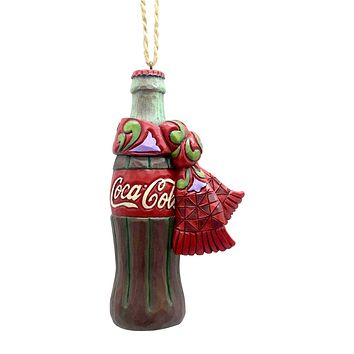 Coca Cola Coke Bottle with Scarf Hanging Ornament by Jim Shore New with Box