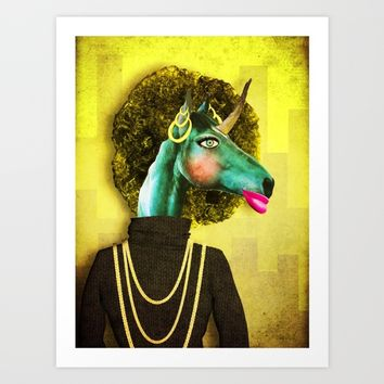 Glamour Unicorn Art Print by That's So Unicorny
