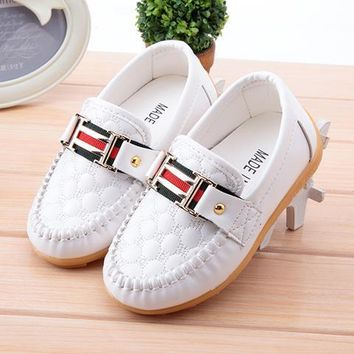 New Boy Girl Children's Slip-on Loafers Oxford Flat Shoes Kids Fashion Sneaker Baby Mocassins Running Shoes (Toddler Little Kid)