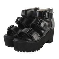 Platfom Sandals with Buckles