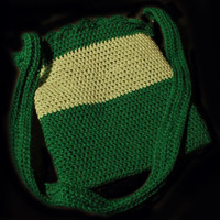 Crochet Tote Bag, Handmade, Ipad Tote Bag, The Green Tote Bag, Patti's Original Collection