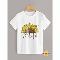 Sunflowers Run Through Me Graphic Tee