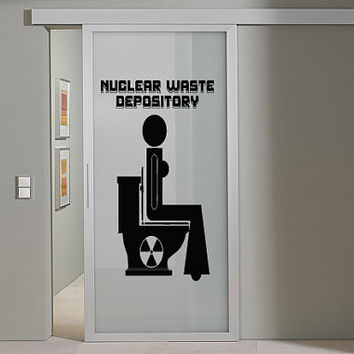 Nice Awesome Wall Decor Art Vinyl Sticker Decal Design Funny Restroom Toilet Sign Quote 473