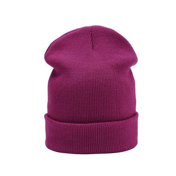 Knitted Skullies beanies women winter beanie hat female warm cap cotton Casual wool solid rabbit Beanie Hat For Men Cashmere