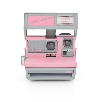 Polaroid Cool Cam Pink and Grey rare Polaroid 600 Instant Camera Tested - Working Vintage 80s