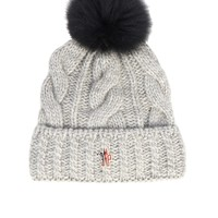 Mink-fur pompom knitted hat | Moncler Grenoble | MATCHESFASHION.COM US