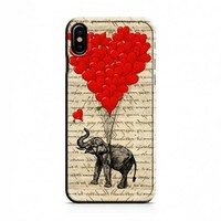 Elephant And Heart iPhone X Case