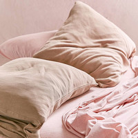 Faded Ribbed Jersey Pillowcase Set | Urban Outfitters