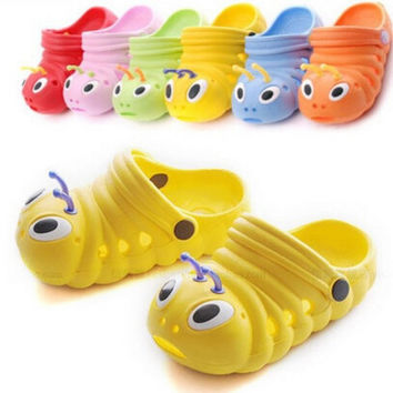 Cute caterpillar garden shoes summer kids sandals