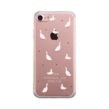 Gooses Pattern Phone Case Cute Clear Phonecase