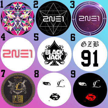 2NE1 Crush CL Gizibe 91 Baddest Female Bottle Cap Necklace KPOP (9 Styles)