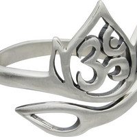 Lotus & Om Adjustable Ring