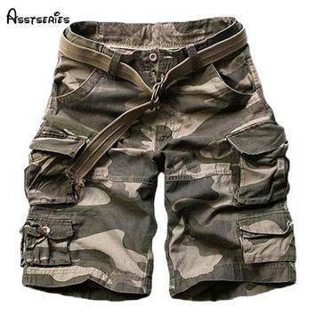 2018 New Summer mens casual army camo cargo shorts cotton Short pants military camouflage fashion shorts men beach shorts 71