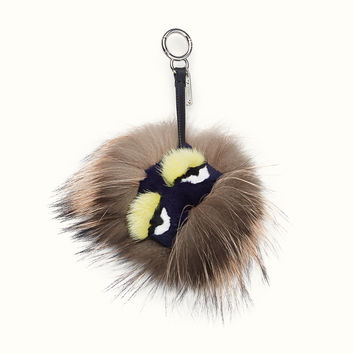 FENDI | ARCHY BAG BUG in smoke-grey tones of fur
