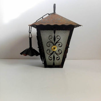 Lanterns, country home decor, shabby chic, country house, antique lamp, rustic decor, hanging light, cast iron, home decor, farmhouse,