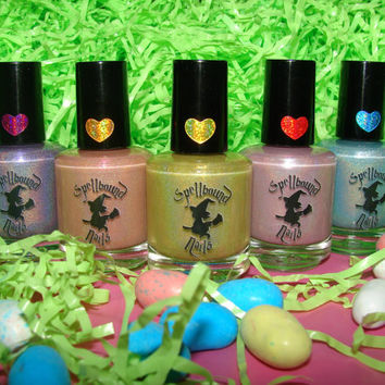 FULL SIZE Easter Eggs Gone Holo - Custom Holographic Pastel Easter Nail Polish