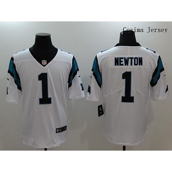 Danny Online Nike NFL Jersey Men's Vapor Untouchable Color Rush Carolina Panthers #1 Cam Newton Football Jersey White