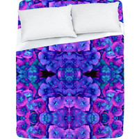 DENY Designs Home Accessories | Amy Sia Future Floral Blue Sheet Set