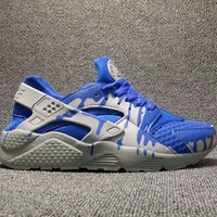 Best Online Sale Nike Air Huarache 1 Run Rainbow Ultra Breathe Men Blue drip Running Sport Casual Shoes Sneakers - 910
