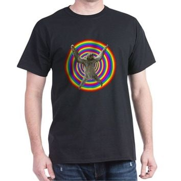 Rainbow Sloth Dark T-Shirt