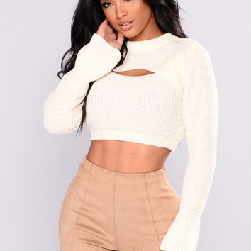 Chanelle Scoop Neck Sweater - Ivory