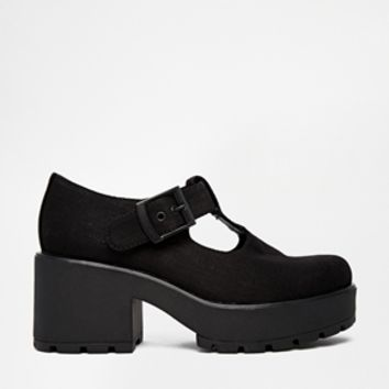 Vagabond Black Mary Jane Dioon Heeled Shoes