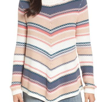 Caslon® Stitch Stripe Sweater (Regular & Petite) | Nordstrom