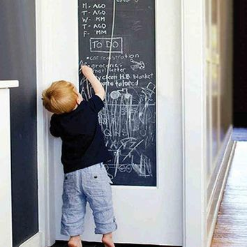 45x200cm Chalk Board Blackboard Stickers Removable Vinyl Draw Decor Mural Decals Art Chalkboard Wall Sticker For Kids Rooms