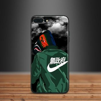 Street Style Fashion Shark Mouth Trend Hipster Tpu Soft Silicone Phone Case Shell For Apple IPhone 5 5s SE 6 6s 7 8 Plus X 10
