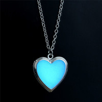 Glow-in-the-Dark Heart Shaped Locket