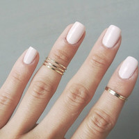 Gold Midi Rings(Set of 2) - Gold