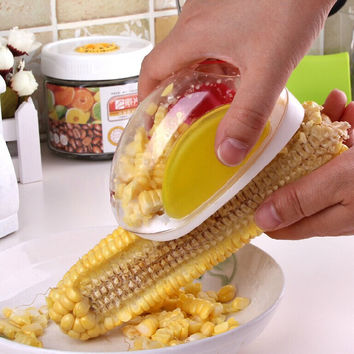 On Sale Easy Tools Kitchen Helper Hot Deal Innovative Corn Peeler [11516256271]