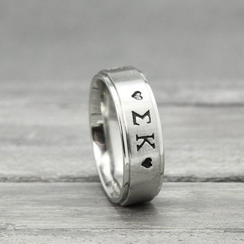 Sigma Kappa Ring, Sorority Ring, , Stainless Name Ring, Stainless Steel Ring, Stainless Ring, Personalized Ring, Handstamped Ring,