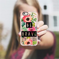 Be Brave Block Watercolor Floral iPhone 6s Case by Jande Laulu   Casetify