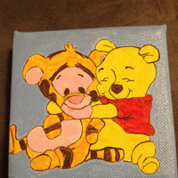 Winnie the Pooh and Tigger painting