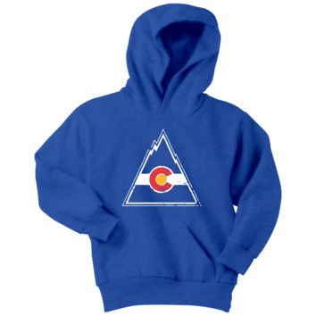 Retro Colorado Rockies Youth Hoodie