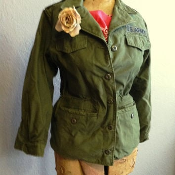 Ladies Army Field Jacket-Great Pin up Girl Style-Steampunk Style-Goth