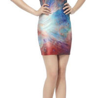 Design 3059 - Sleeveless above knee galaxy mini dress