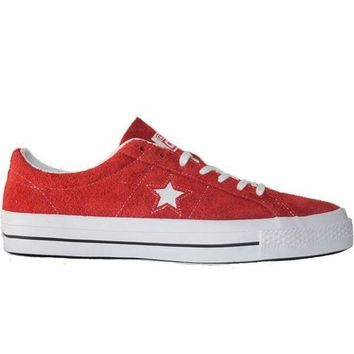 ESBONIG Converse One Star Ox - Red/White Suede Oxford Sneaker