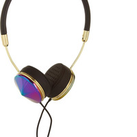 Frends - Layla leather and iridescent metal headphones