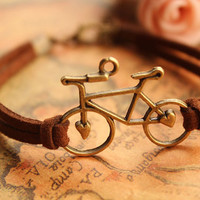 Bronze Retro Bike Braid Bracelet